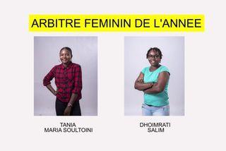 Nominées arbitre féminin  2018 :Tania Maria Soultoini & Dhoimrati Salim