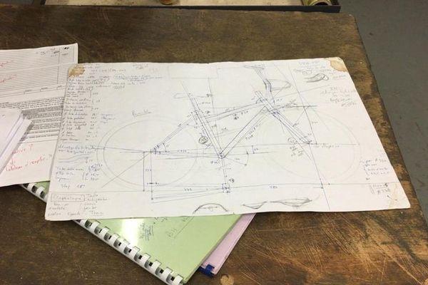 Plan du vélo en bambou