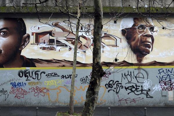 Fresque murale de Césaire à Bagnolet