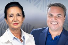 Huguette Bello et Didier Robert