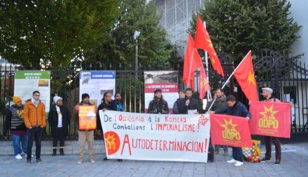 Référendum: soutien de l'Organisation démocratique du peuple occitan à Pau, 27 octobre 2018