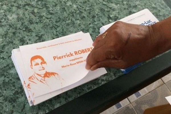 Législative partielle 7ème circonscription 2nd tour bulletin de vote Pierrick Robert 300918