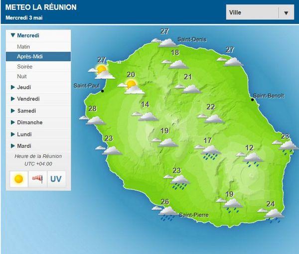 Carte météo du 3 mai 2017