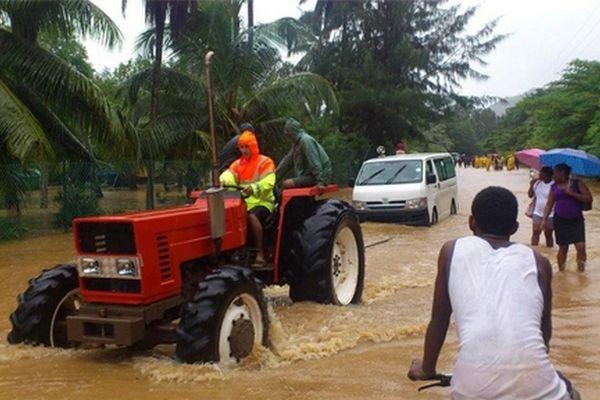 Inondations aux Seychelles