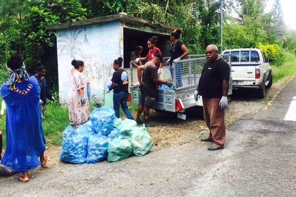 Nettoyage des guérites à Poindimié, janvier 2020