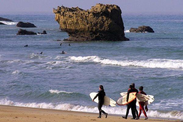 La compétition se déroule sur la grande plage de Biarritz