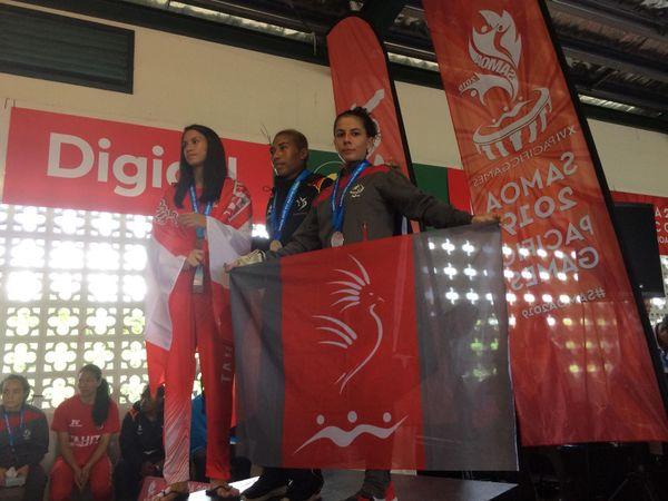 Samoa 2019, Mahina Charlot argent à la boxe