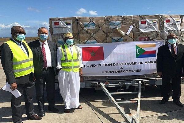 livraison d'aide médicale aux Comores 23 juin 2020