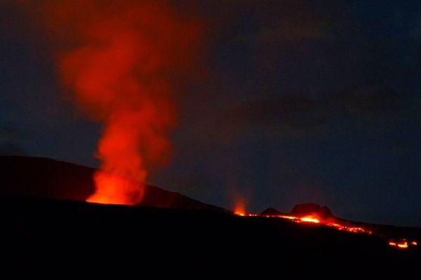 Eruption de La Fournaise le 21 février 2019