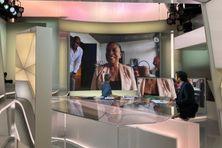 Christiane Taubira en duplex pour l'émission  28 minutes d'ARTE le 18 mai depuis la Guyane