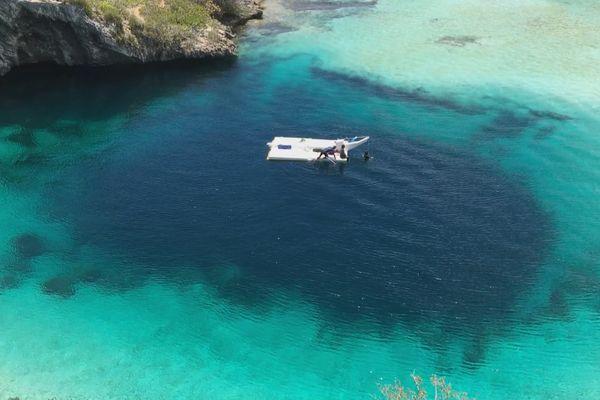 dean's blue hole bahamas denis grosmaire