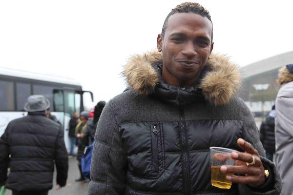 Blessé, le footballeur Yannick Chosrova est venu de Martinique pour soutenir ces coéquipiers du Club Franciscain