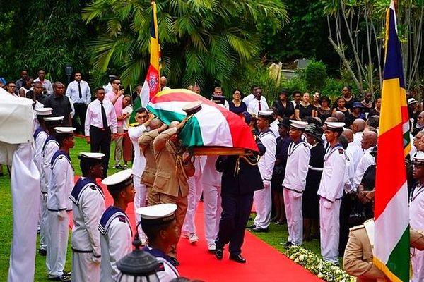 Obsèques de France Albert René State House Seychelles 7 mars 2019