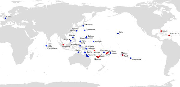 Carte de répartition de Platydemus manokwari