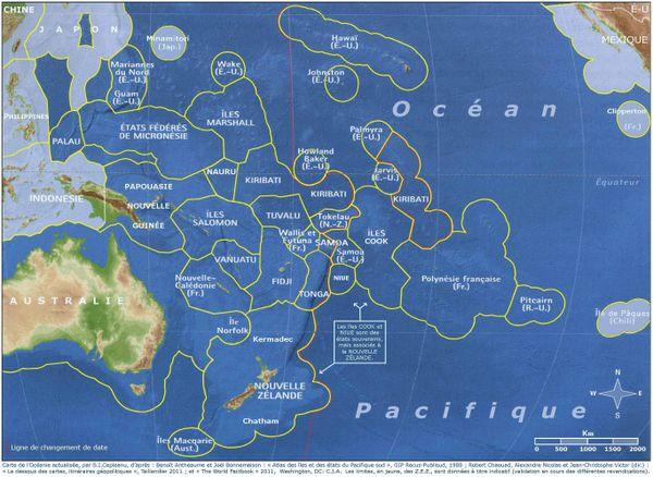 Carte communauté du Pacifique