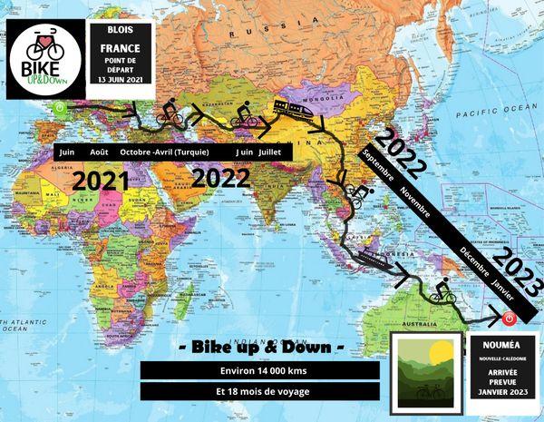 Bikeup and Down itinéraire