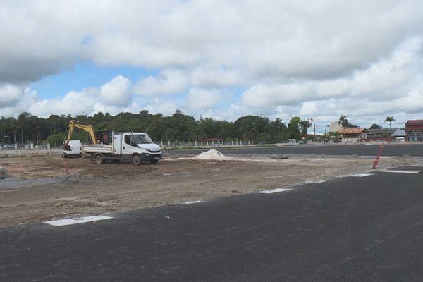 Le stade B en travaux livraison prévue en août 2021