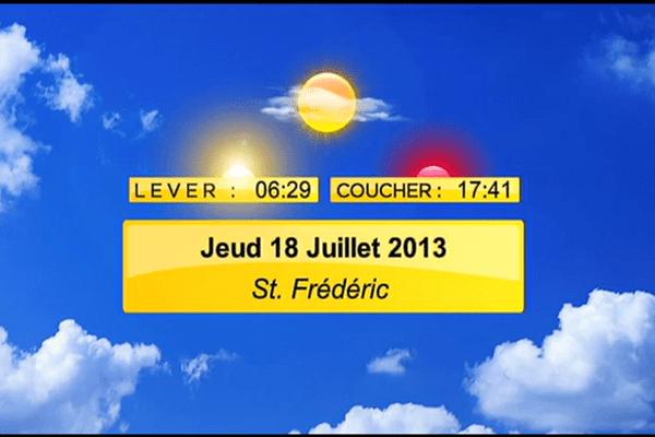 Meteo du jeudi 18 juillet 2013