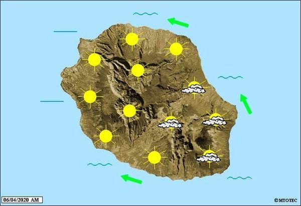 Carte météo 6 avril 2020