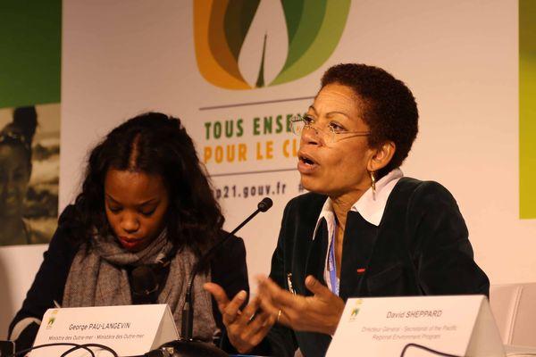 George Pau-Langevin, ministre des Outre-mer à la COP21