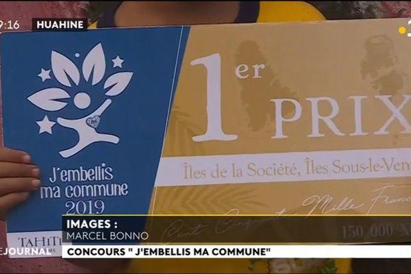 « J'embellis ma commune » : 1er prix pour Ha'apu aux Iles Sous Le Vent