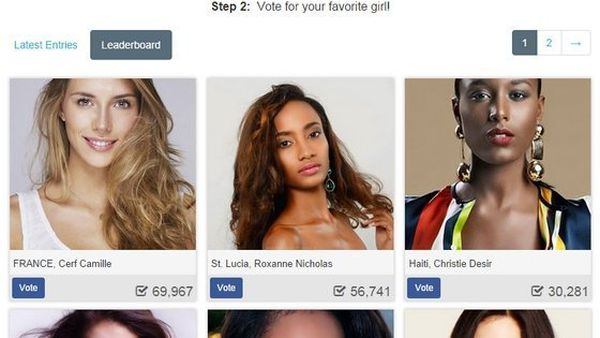 Vote Miss Univers