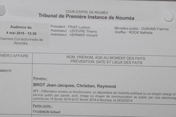 Tribunal de première instance de Nouméa