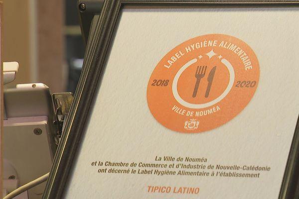 Label hygiène alimentaire Nouméa