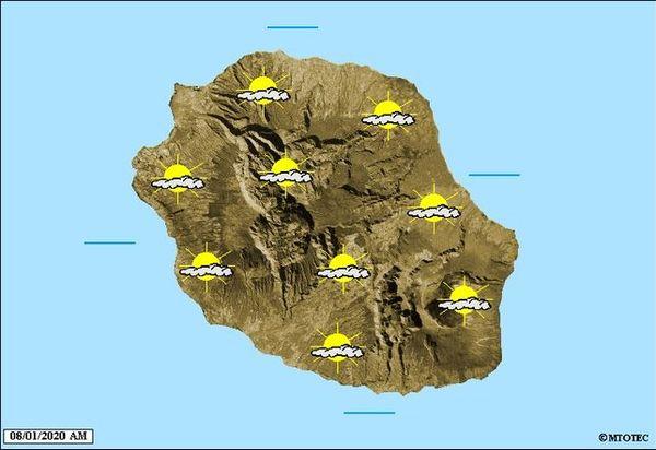 Carte météo 8 janvier 2020