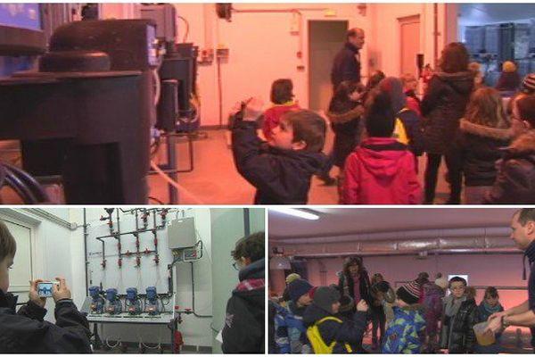 Les élèves de CE1 su Feu rouge ont pu découvrir le processus de traitement de l'eau à la station d'eau de Saint-Pierre