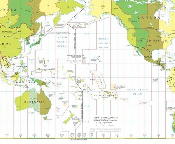 Fuseaux horaires Pacifique