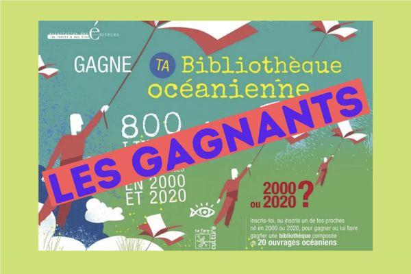 Qui sont les heureux gagnants de la Bibliothèque Océanienne ?