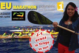 Jeu internet Marathon Polynésie 1ère vaa - Une rame Viper à gagner !