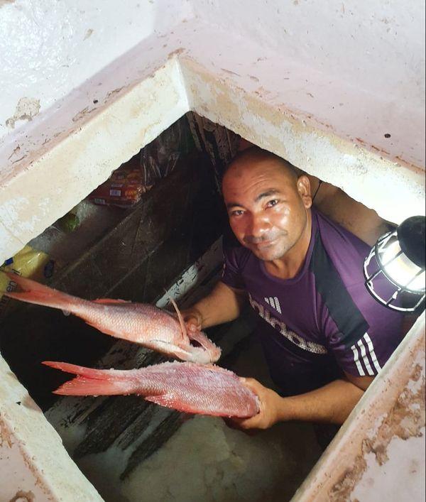 Les pêcheurs de la crique offrent du poisson