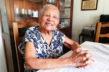 Emilie Medélia née Belrose agée de 107 ans