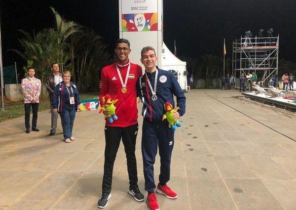 JIOI 2019 Natation médaille d'argent Mehdi Ruben au 50nage libre handisport malentendant 210719