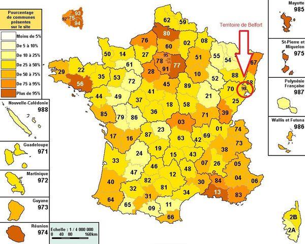 Territoire de Belfort, carte
