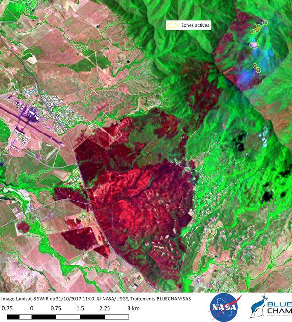 Paita: incendie koumédio - image satellite