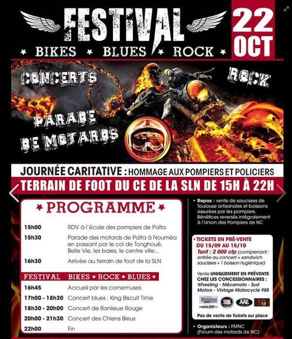 Affiche concert motards 2016