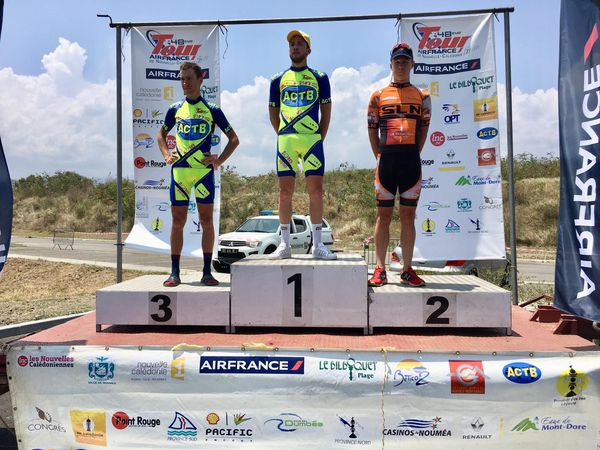 Podium 6ème étape Tour Air France. Cyclisme