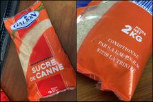 """Les sachets de sucre de 2kg, qui sont """"conditionné"""" par l'usine Galion, sont concernés par ces mesures de retrait."""
