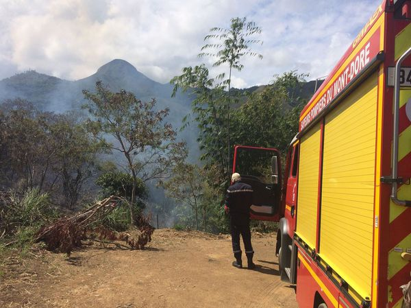 Feu de la Conception, camion pompiers du Mont-Dore, 6 octobre