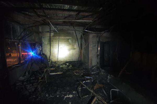 Incendie garage municipal