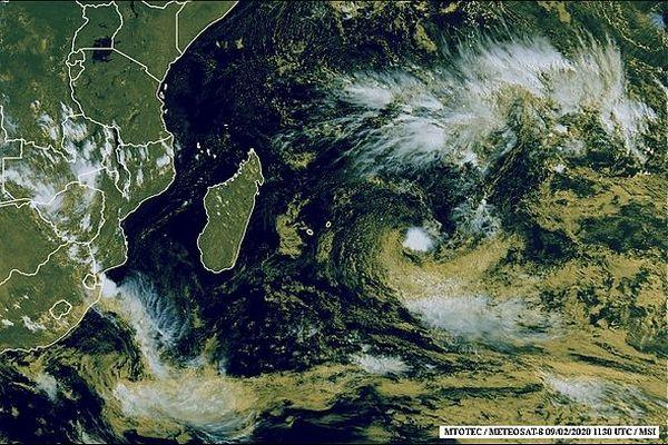 Image satellite de l'océan Indien 10 février 2020