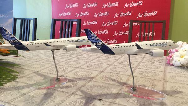 Miniature des nouveaux Airbus d'Air Vanuatu