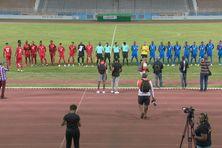 Martinique / Guadeloupe (rouge) au stade de Dillon le 24 juin 2021.
