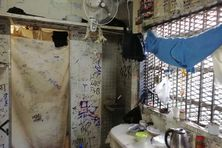 Une cellule du centre pénitentiaire de Nouméa, en Nouvelle-Calédonie.