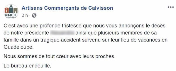 Post Association commerçants Calvisson (Gard)