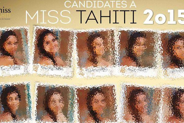 Candidates Miss Tahiti 2015 Reveal