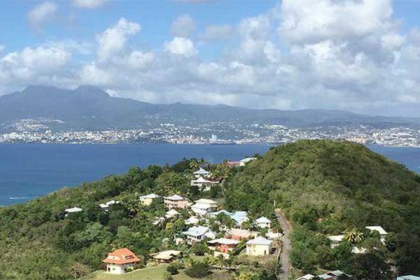 Martinique vue des Trois-Ilets